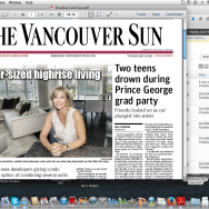 Hitting the front page of the Vancouver Sun